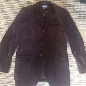 Men Brown Velvet blazer